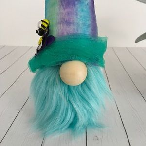 Boho Hippie Tie Dye Gnome Linen Hat Whimsical